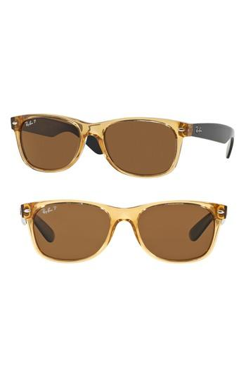 b4ab6d80c0 Ray Ban Standard New Wayfarer 55Mm Polarized Sunglasses - Honey ...