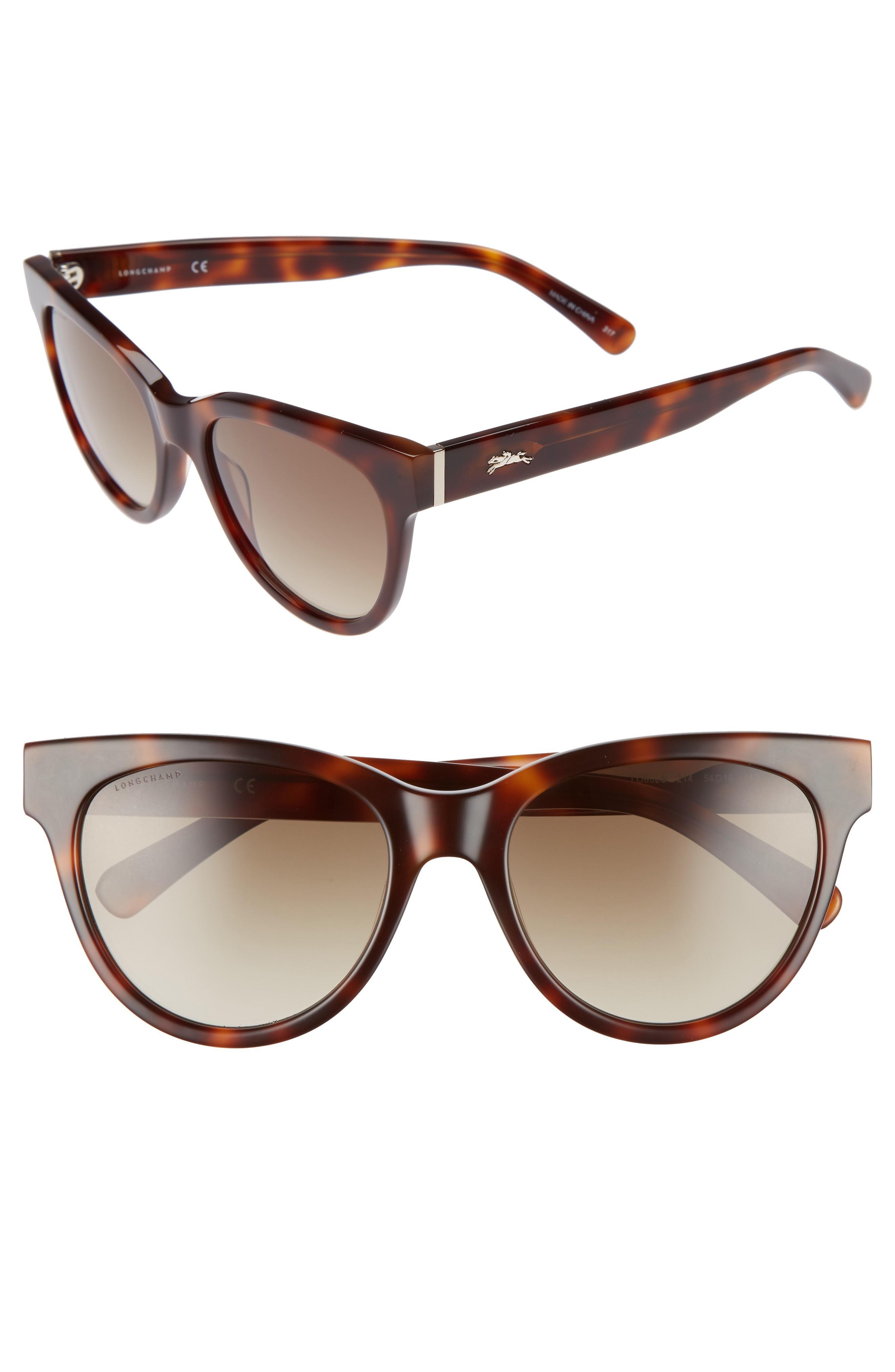 aa4d56fa582 Longchamp 54Mm Gradient Lens Cat Eye Sunglasses - Havana Multi ...