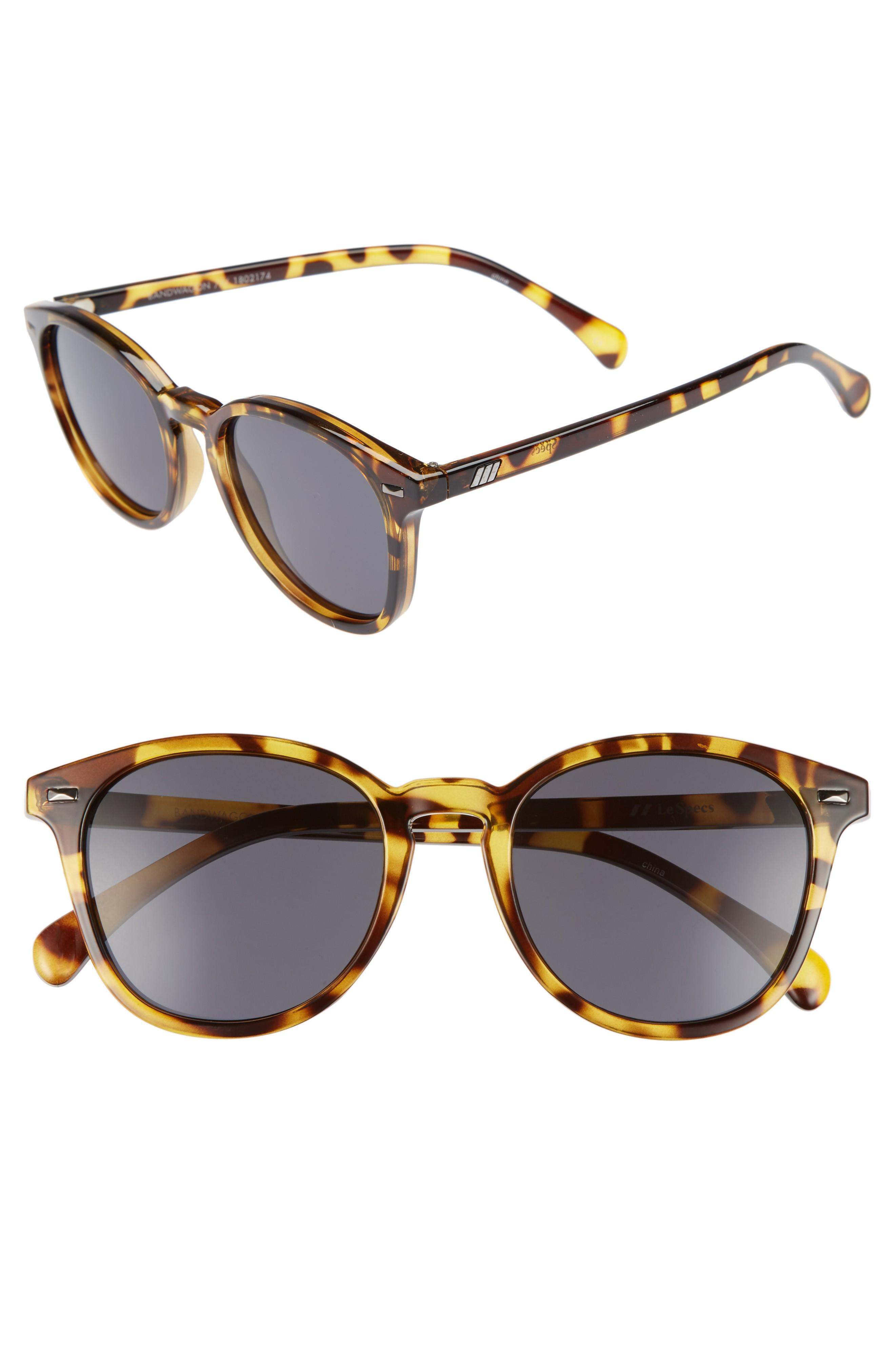 Le Specs Bandwagon 51mm Sunglasses In Syrup Tortoise