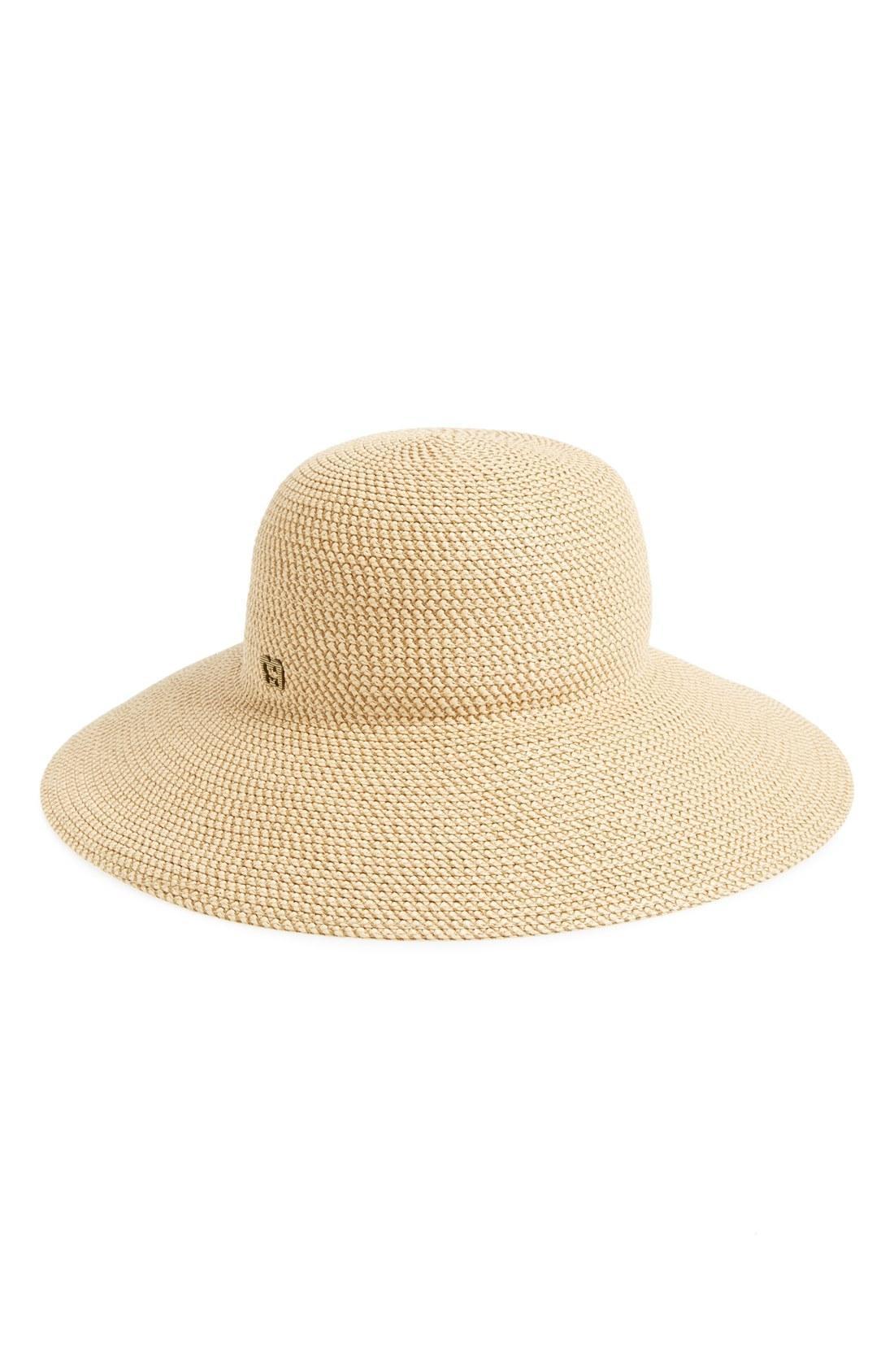 7acb2f477c310 Eric Javits  Hampton  Straw Sun Hat In Peanut