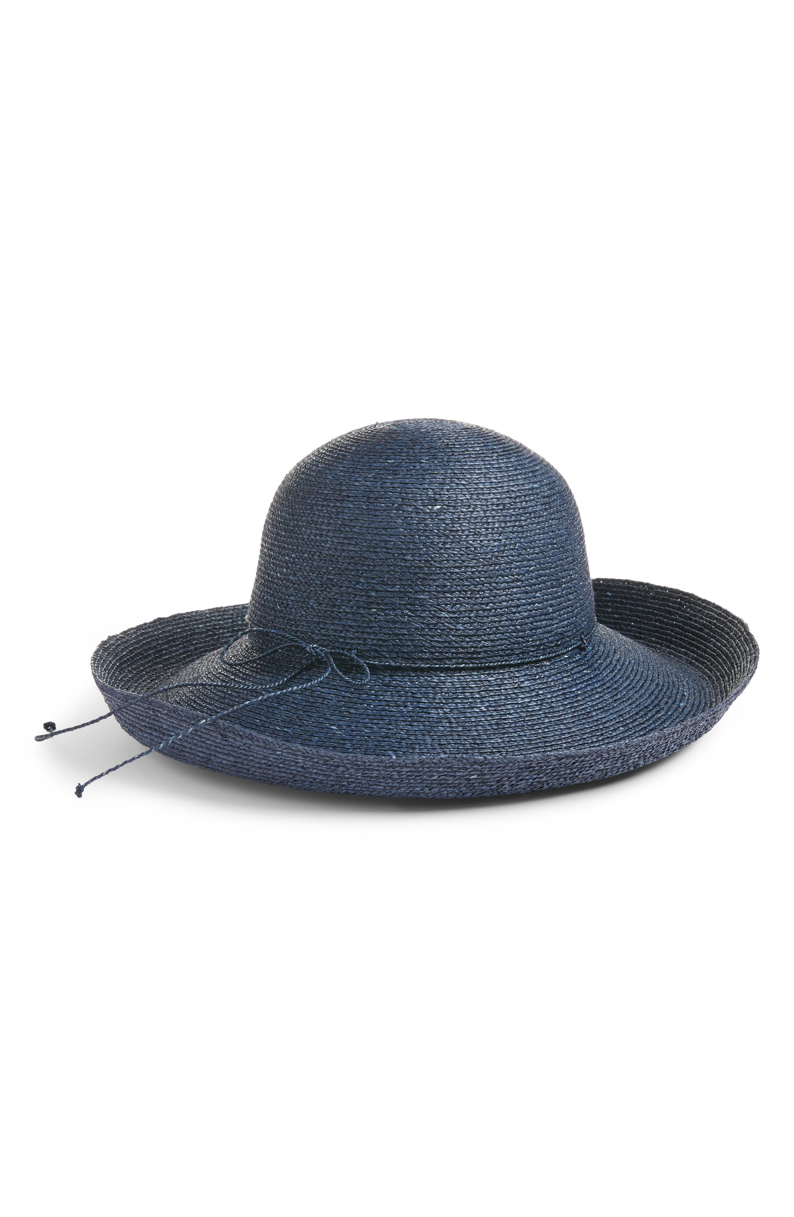db643357d Rolled Brim Raffia Hat - Blue in Pacific