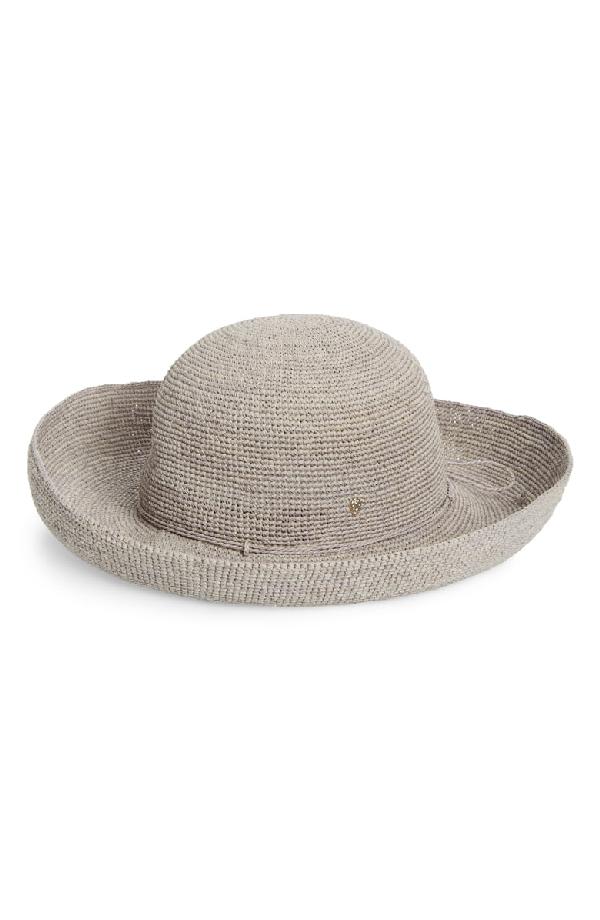 2ff4cf4f3b81c8 Helen Kaminski Classic Upturn Crocheted Raffia Hat - Grey In Eclipse Melange