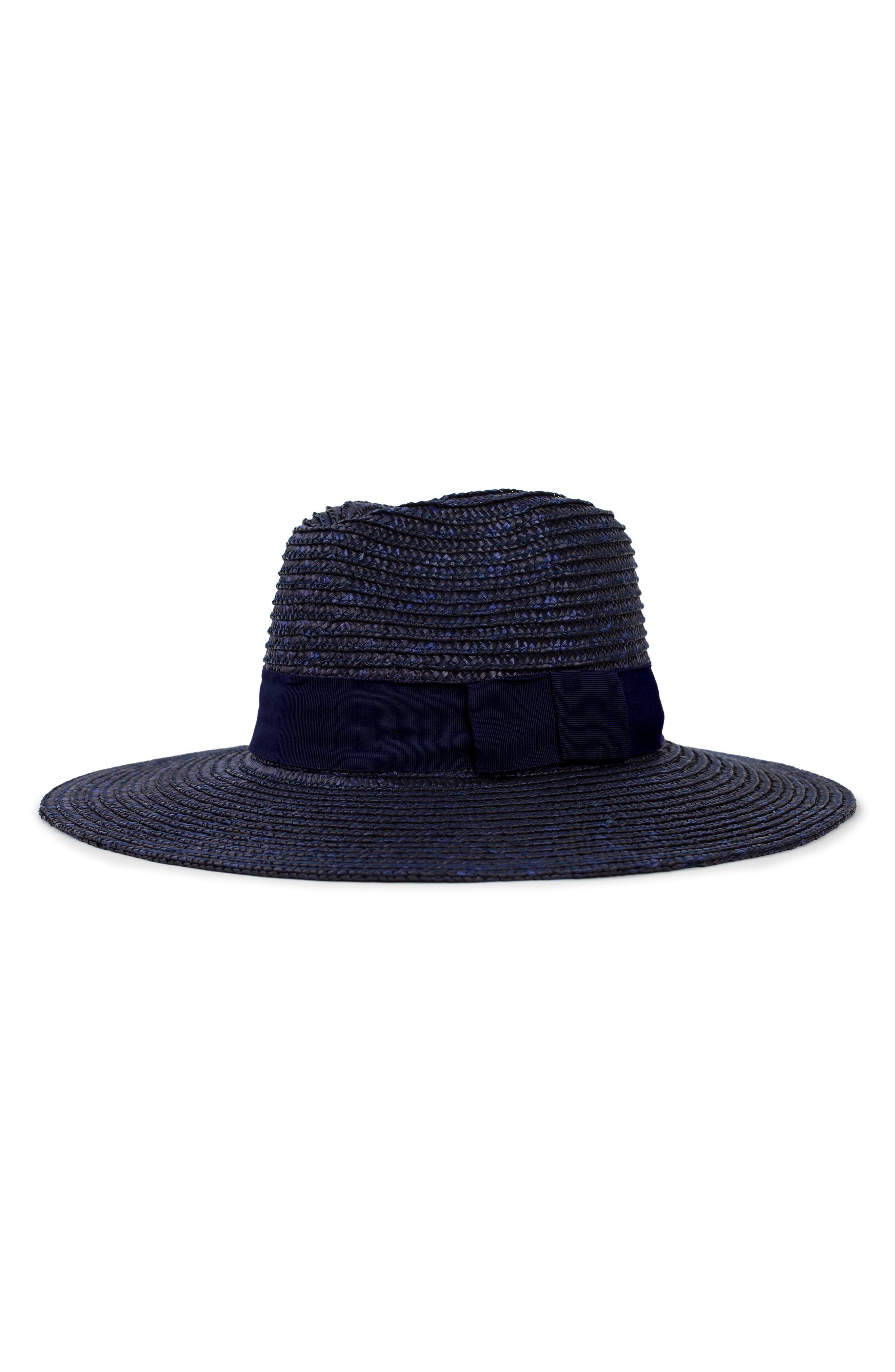 e373f179414159 Brixton 'Joanna' Straw Hat - Blue In Midnight | ModeSens