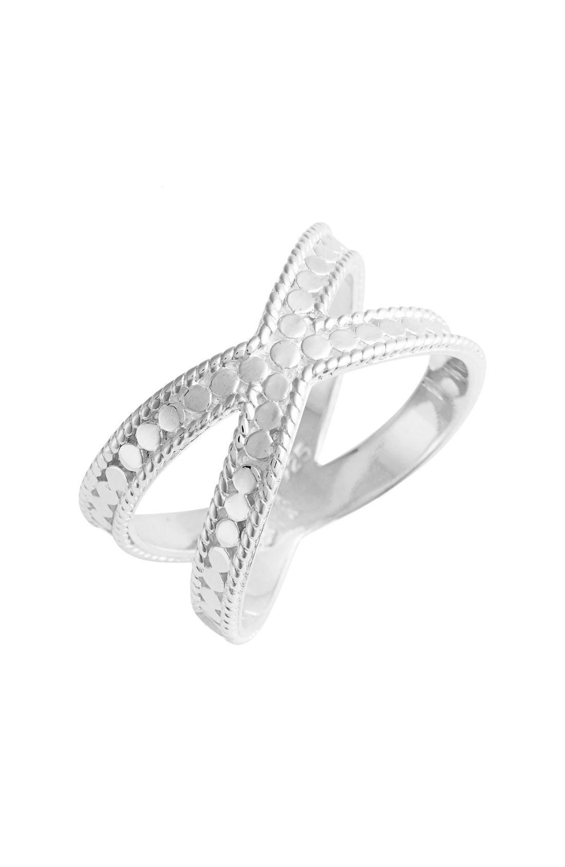 f0feb4e5f Anna Beck Cross Ring In Silver   ModeSens