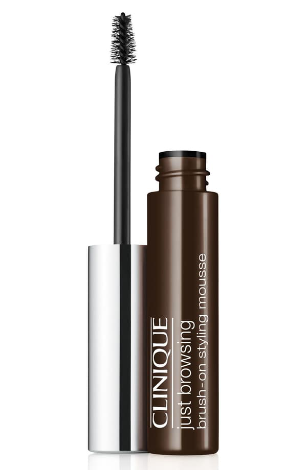Clinique Just Browsing Brush-on Styling Mousse 04 Black/brown 0.07 oz/ 2 G In Black/ Brown