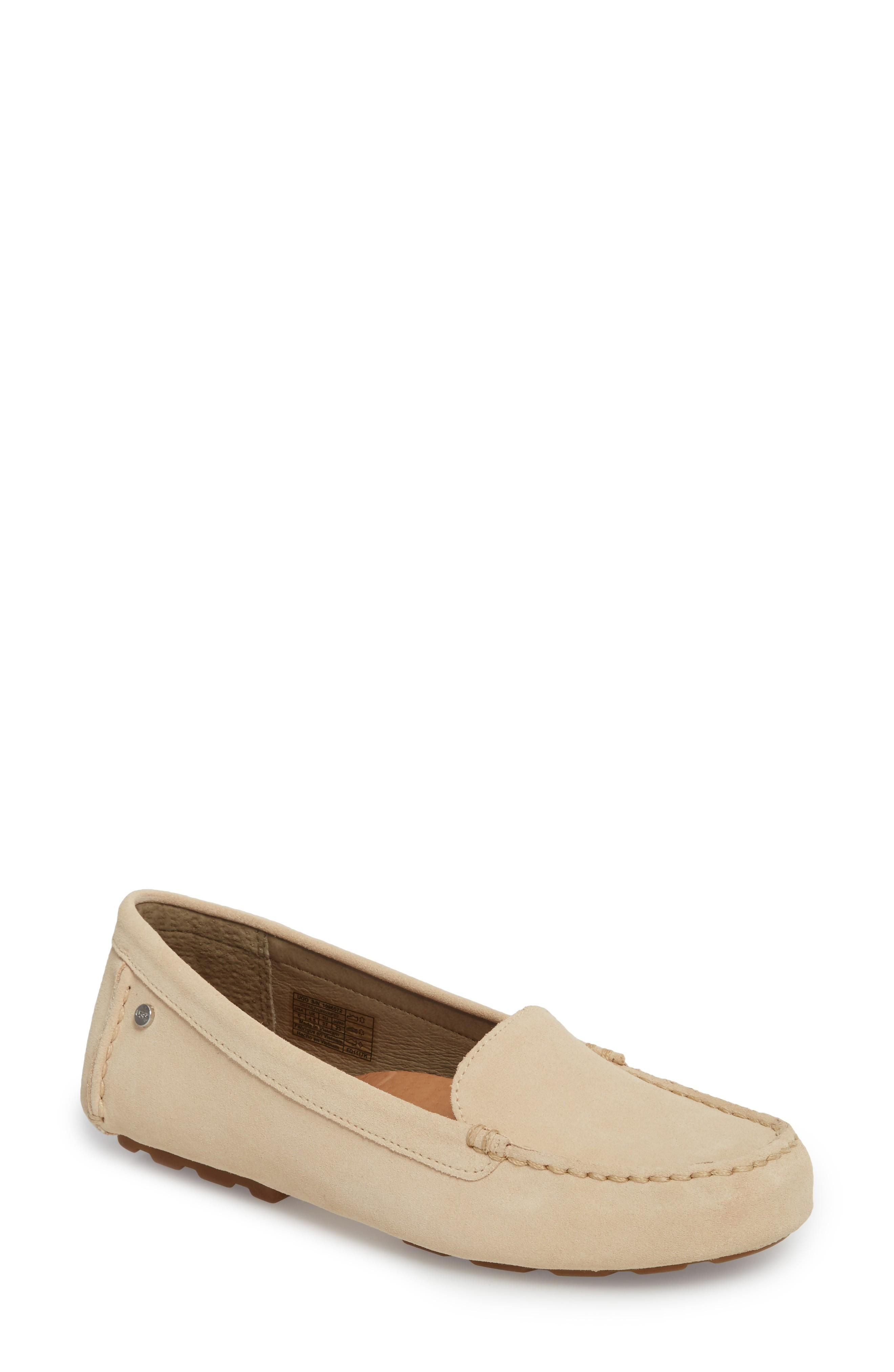 cbdf0c24241 Ugg Australia Womens Milana Closed Toe Loafers In Cream Suede