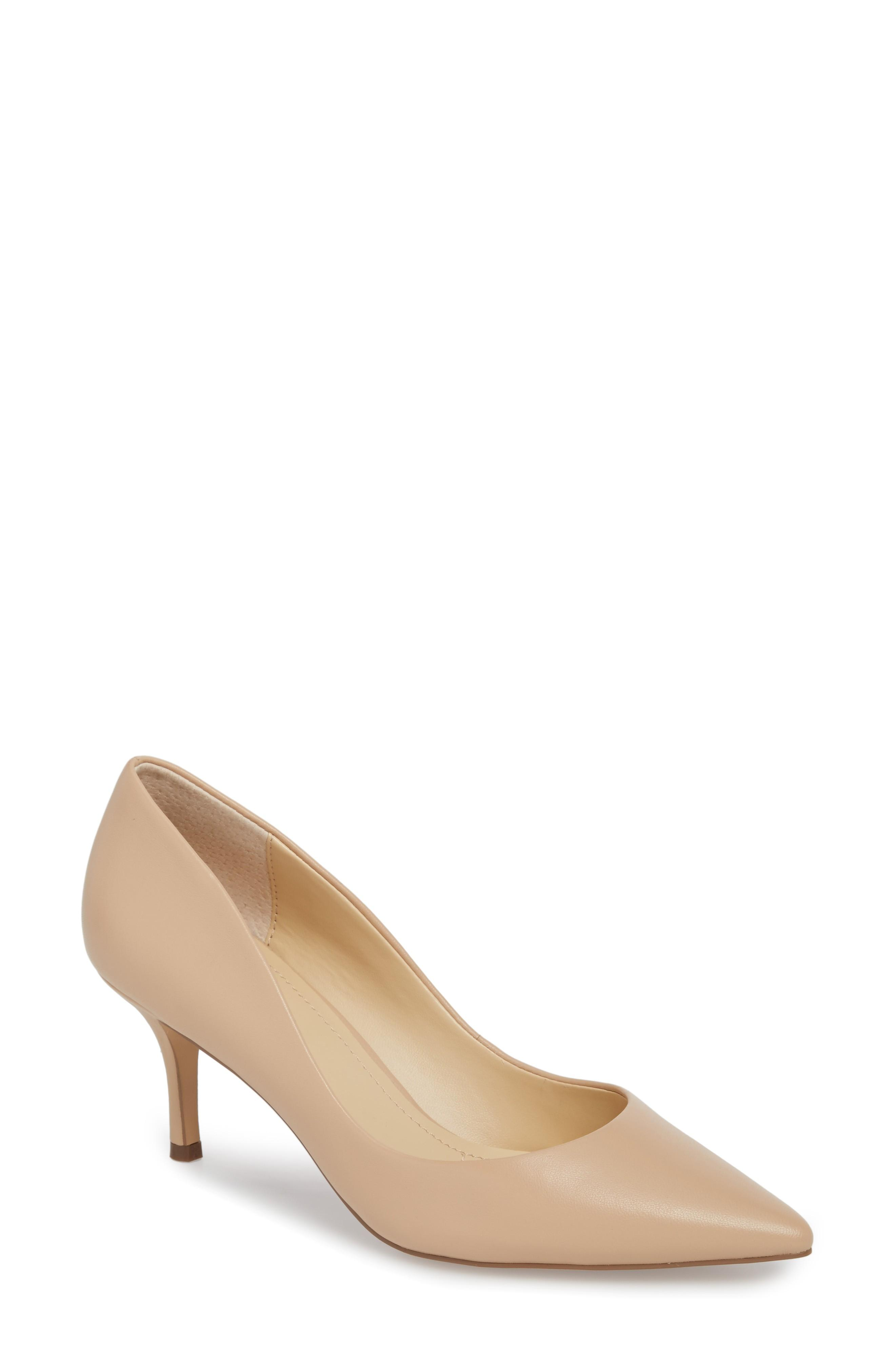 8f6edec603 Charles By Charles David Addie Pump In Nude Leather | ModeSens