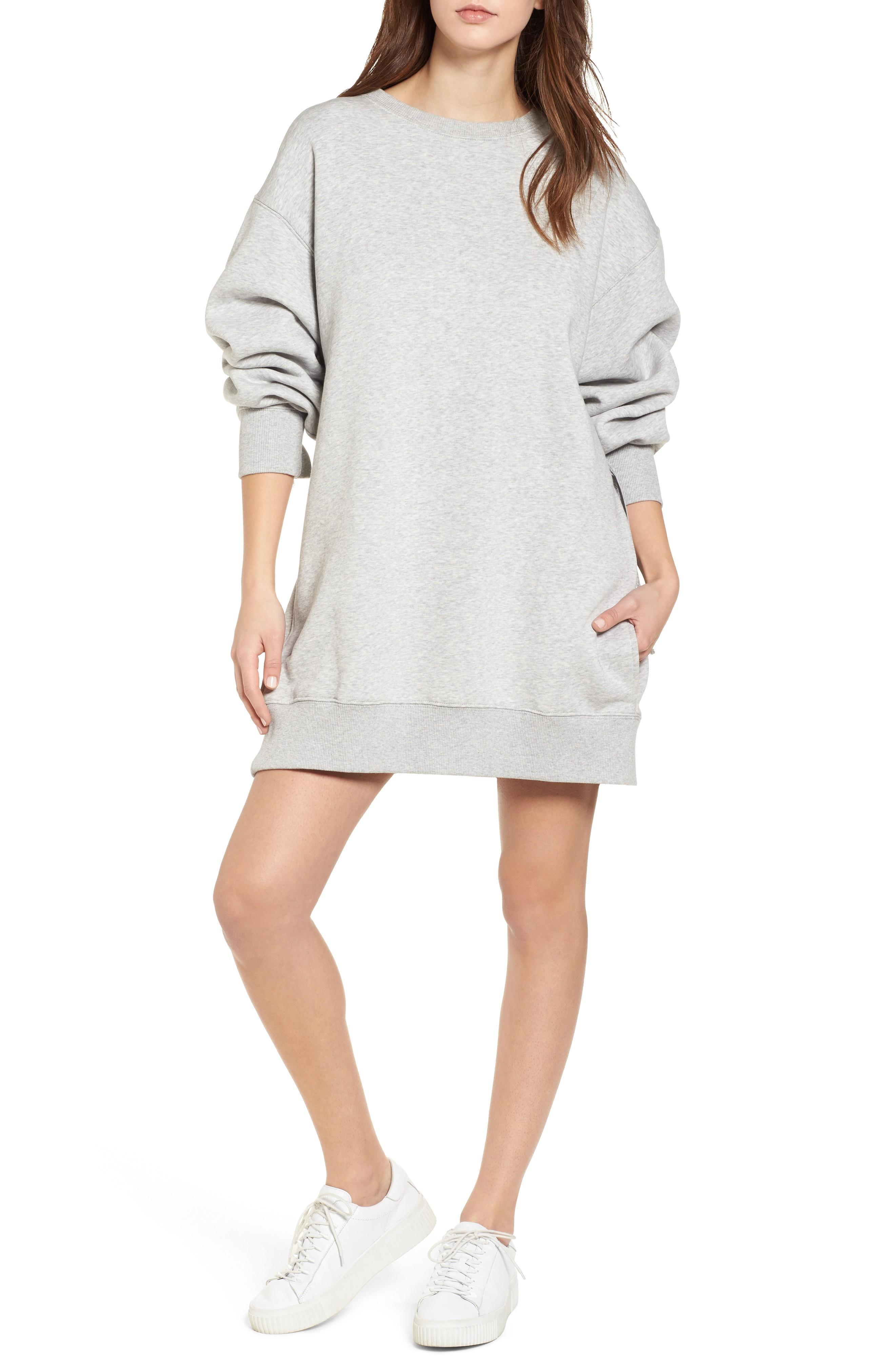 73eb6f2d892 Tommy Jeans X Gigi Hadid Sweatshirt Dress In Light Grey Htr