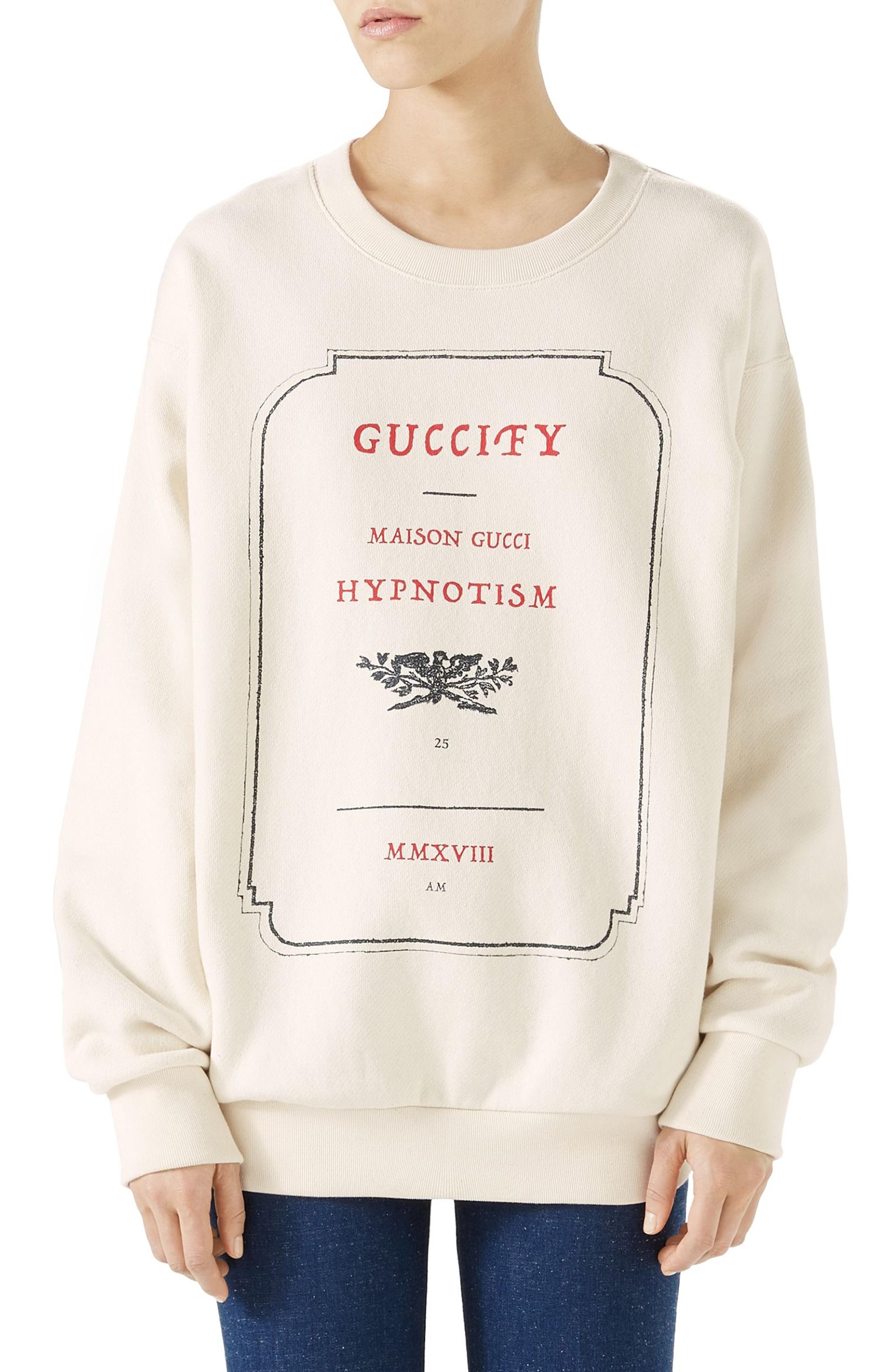 f260fd874 Gucci Hypnotism Graphic Sweatshirt In Female | ModeSens
