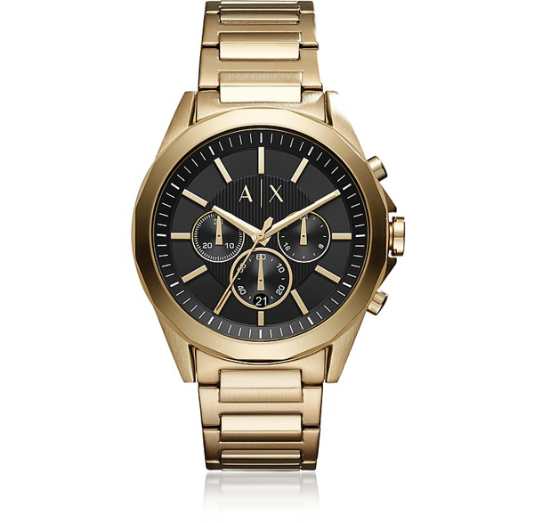 Armani Exchange - Stainless Steel Men's Watch In Gold