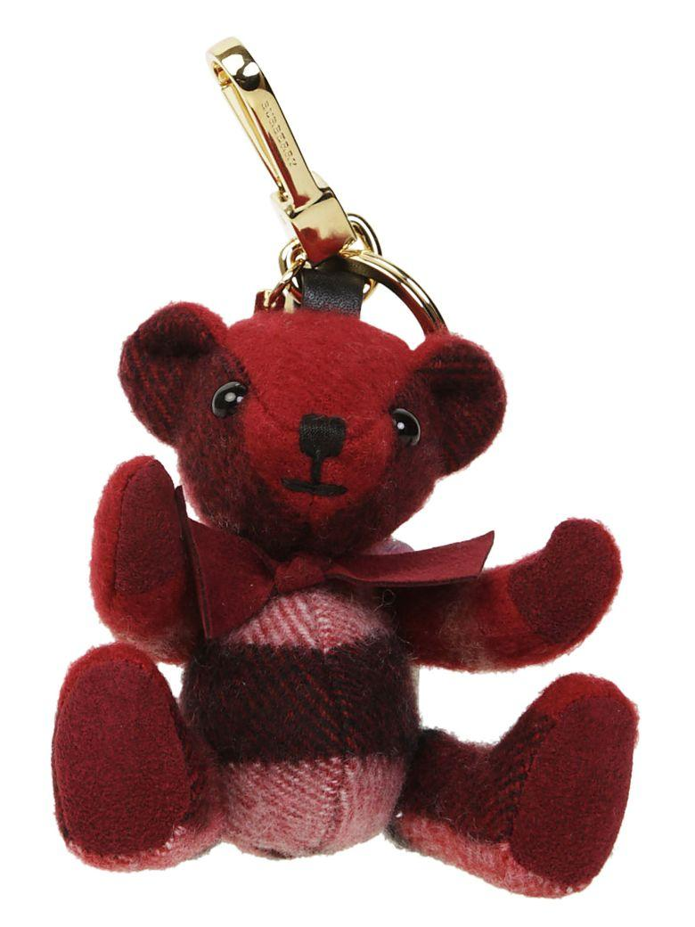 Burberry Thomas Bear Keyring In Rosso