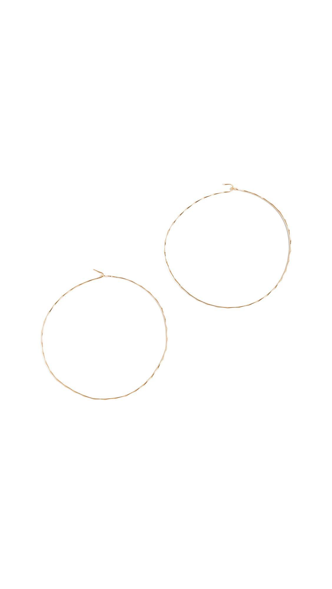Jules Smith Atlas Hoop Earrings In Yellow Gold