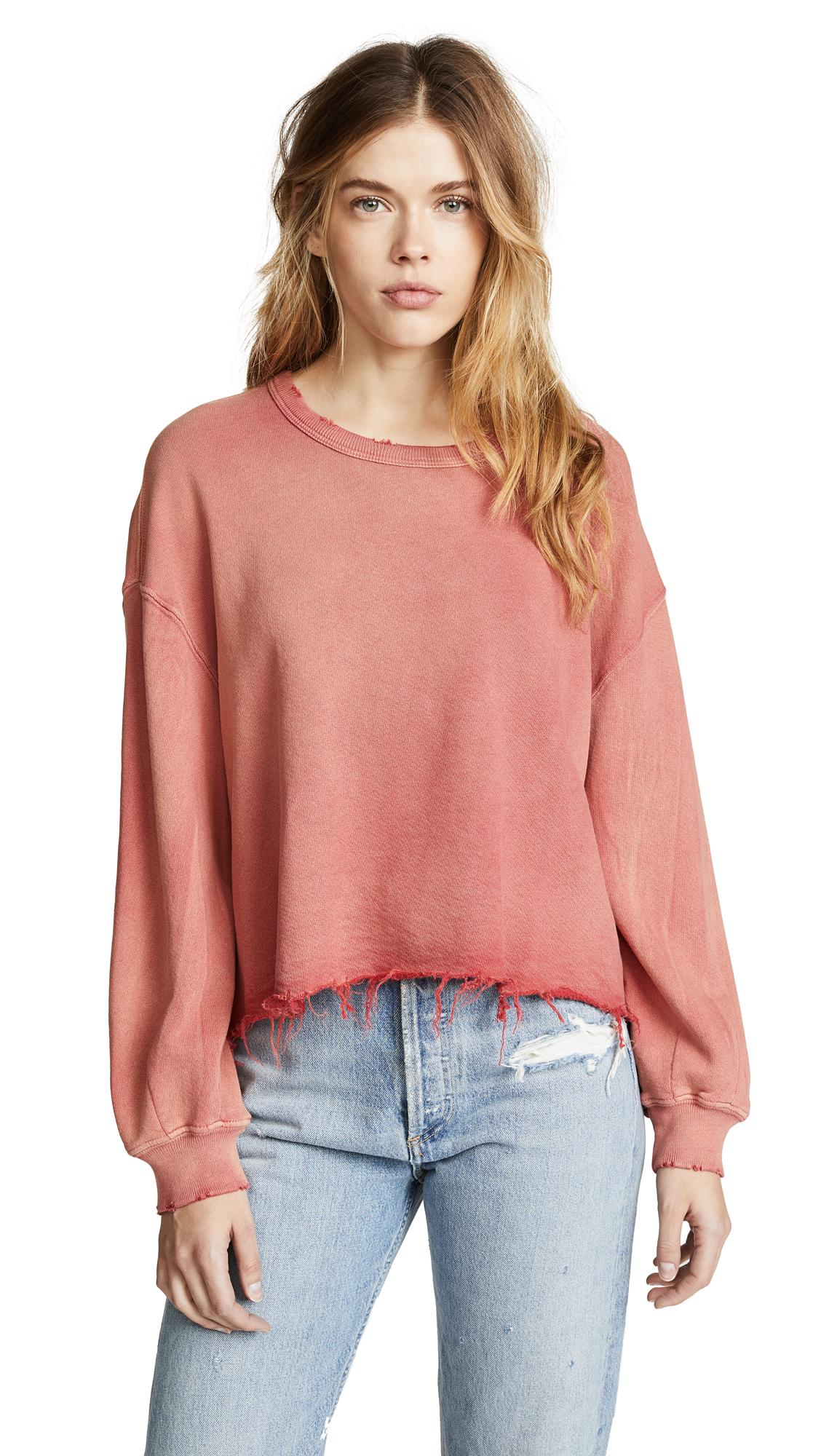 51cd69f9dc5 The Great The Cut Off Sweatshirt In Rhubarb