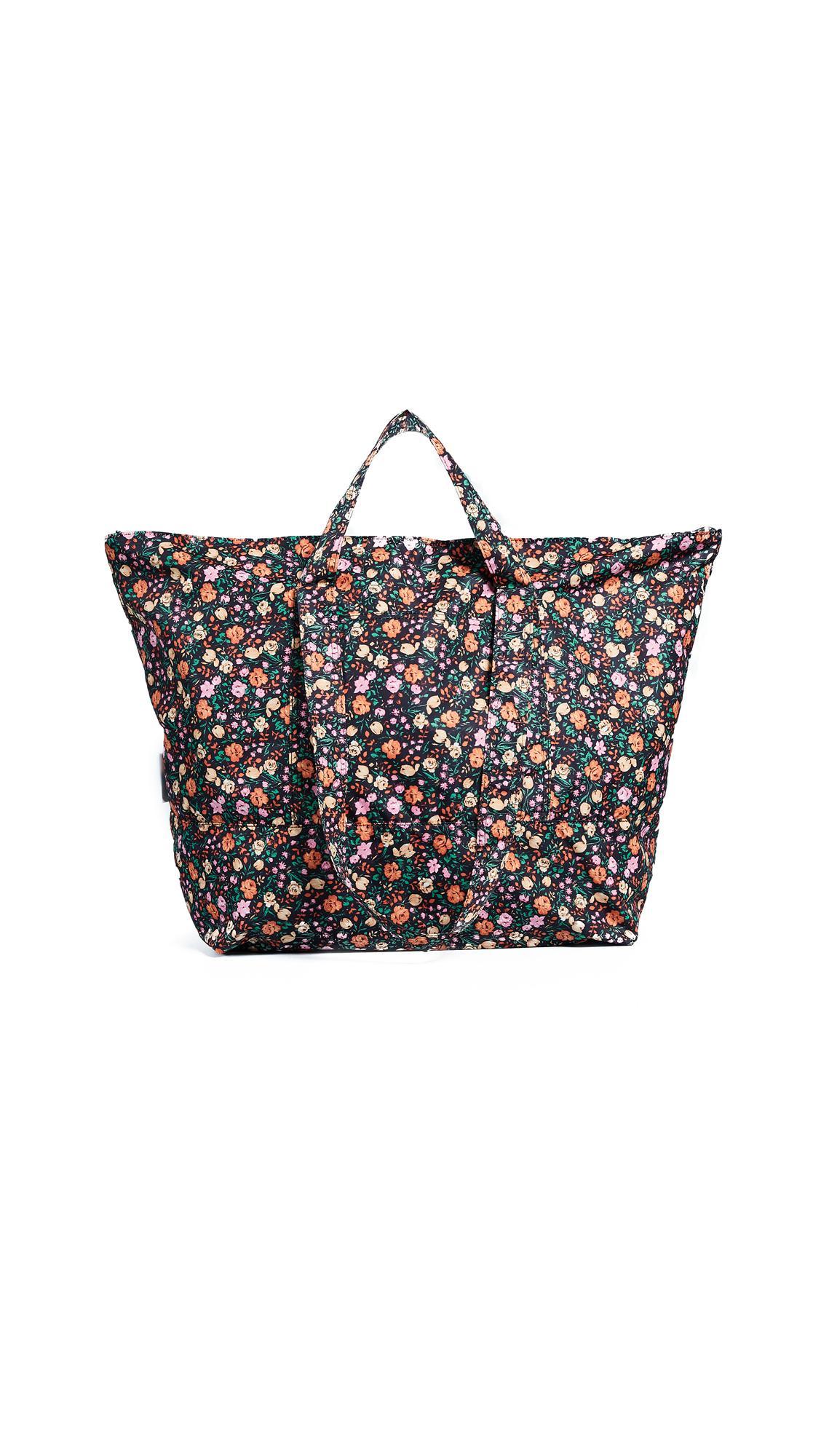 Ganni Beach Tote Bag In Multicolor