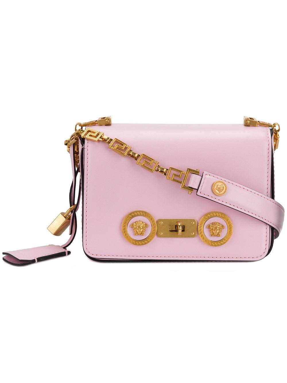 f4b0ef32e17 Versace Greek Medusa Shoulder Bag - Pink | ModeSens