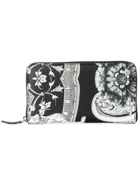Versace Baroccoflage Wallet In Black