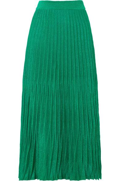 869f52d069 Maje Pleated Metallic Knitted Midi Skirt In Green | ModeSens