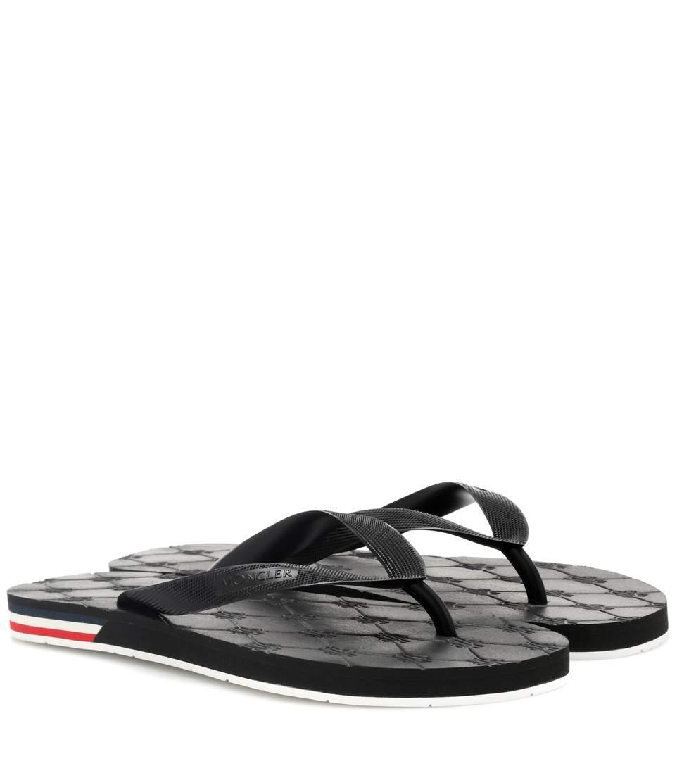 62d98883304 Elevate your poolside look with Moncler s comfortable Yolene sandals.  Crafted in Portugal from flexible rubber