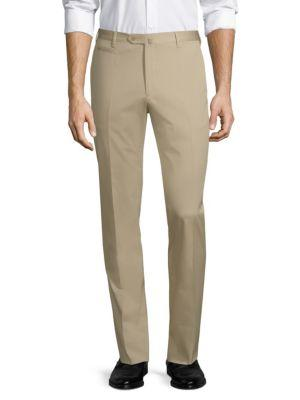 Corneliani Straight-leg Stretch Trousers In Tan