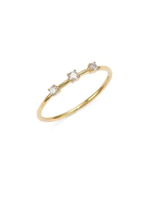 Lana 3-stone Diamond Wire Ring In Yellow Gold
