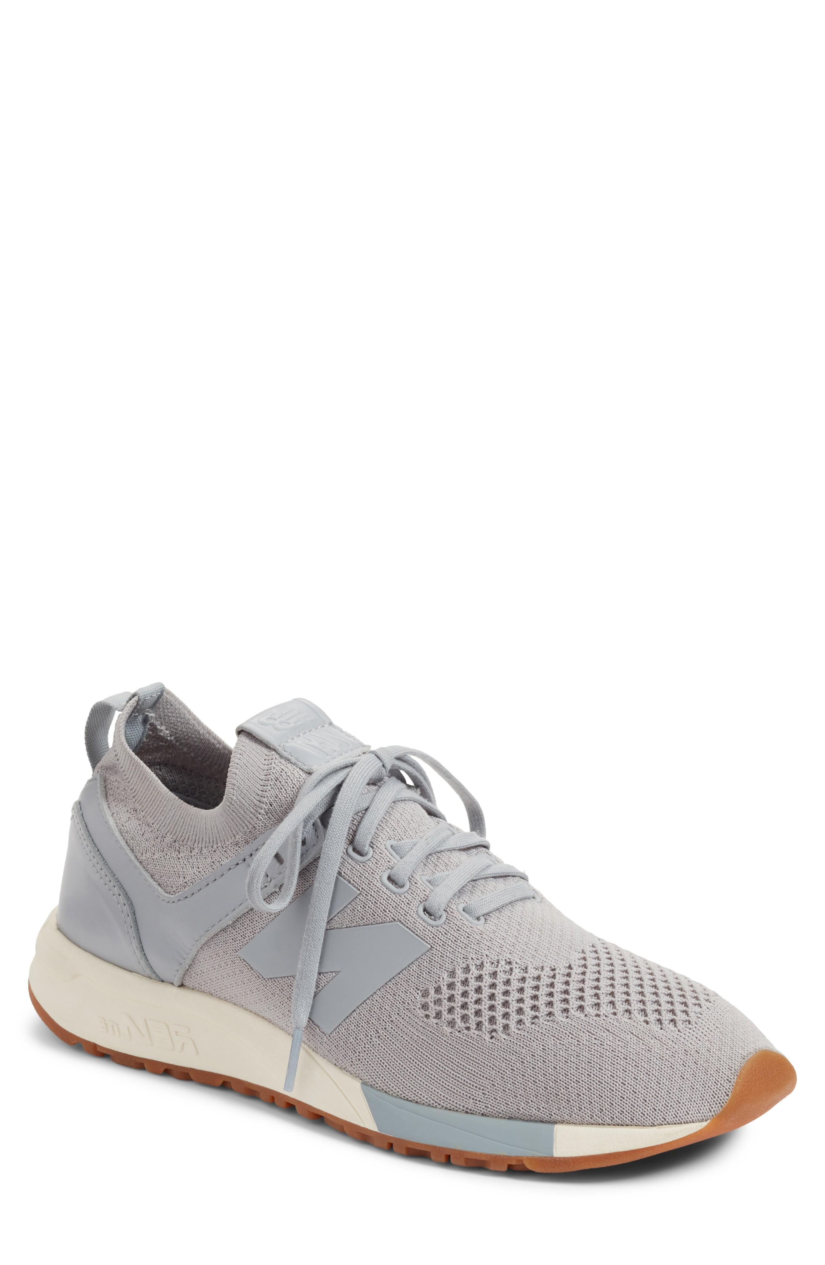 half off ee5af dd6e3 New Balance Men s 247 Decon Casual Sneakers From Finish Line In Grey White