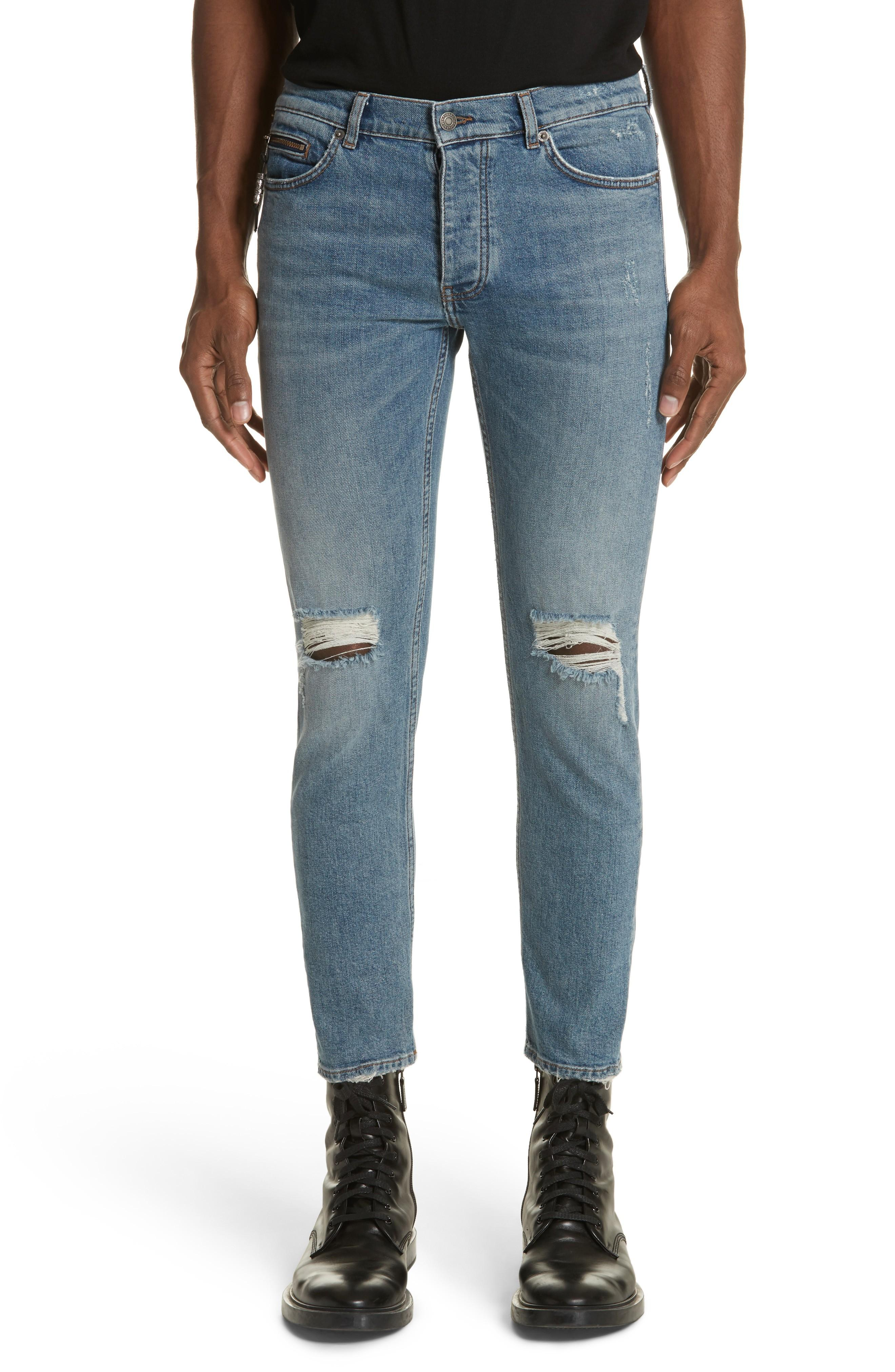 40cee3fcfe4 The Kooples Cropped Slim Fit Jeans In Blue In Blu 88 | ModeSens