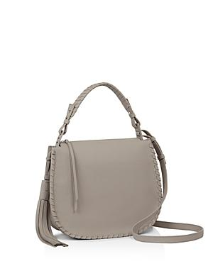 ccec7b43f9d Allsaints Mori Leather Hobo - Grey In Taupe Grey