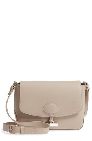 c44d819c7 Longchamp Roseau Leather Crossbody Bag - Grey In Clay | ModeSens