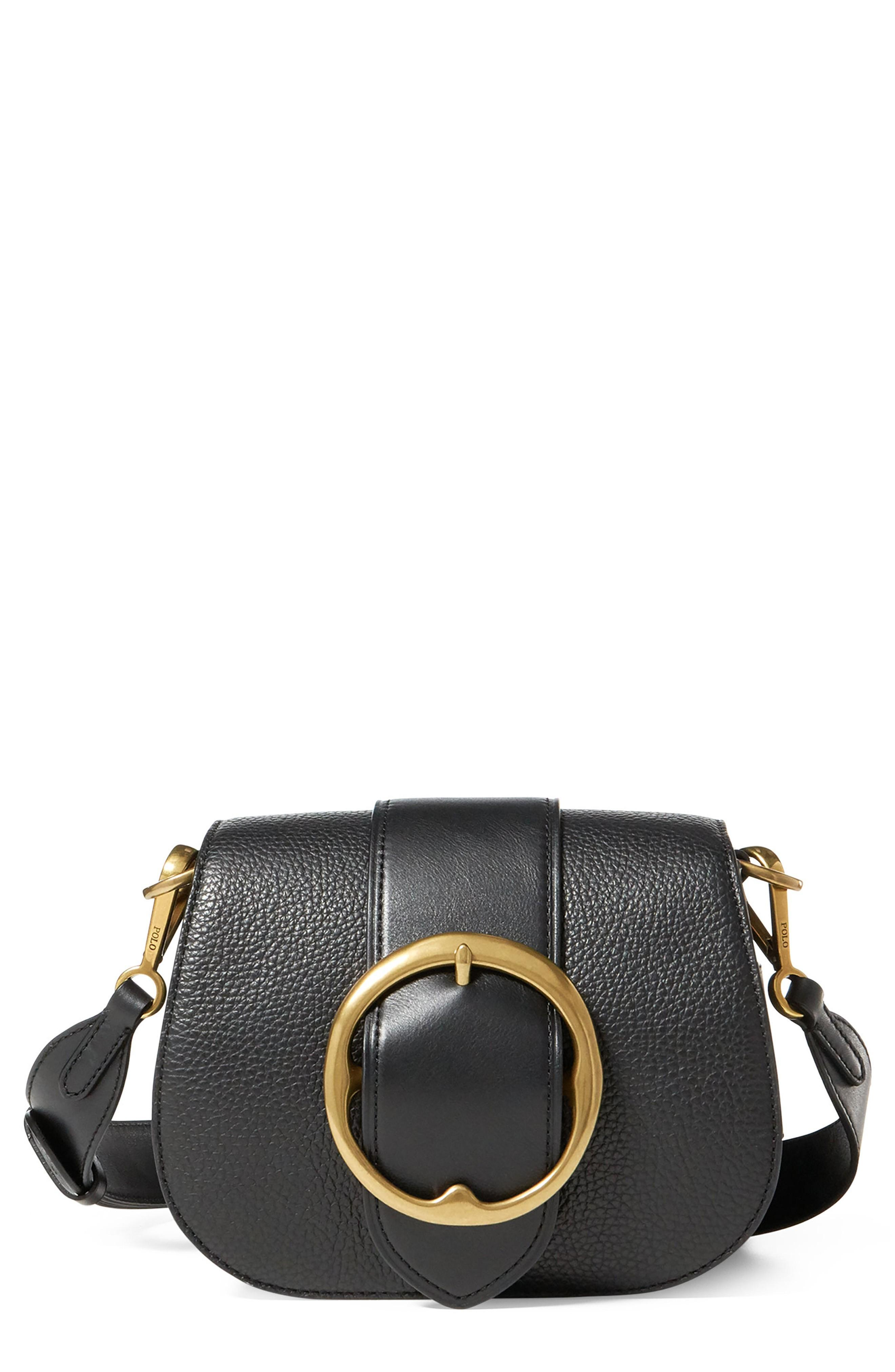 24ca5f47f6 An antique buckle unearthed from Ralph Lauren s archives inspired this  vintage-meets-modern bag crafted from supple Italian leather in a classic  saddle ...