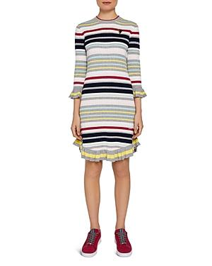 b23e759bf5ed0 Ted Baker Colour By Numbers Irette Striped Knit Dress In Grey
