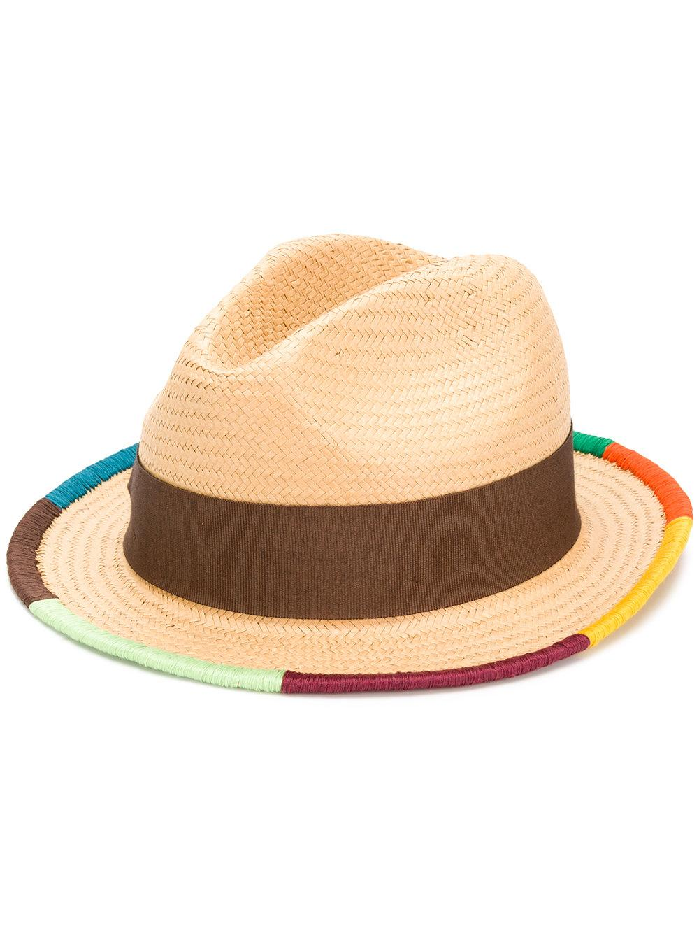 75fb6945c6817a Paul Smith Artist Stripe Border Plaited Hat   ModeSens