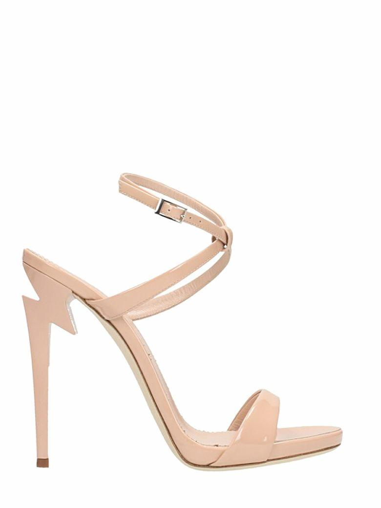 Giuseppe Zanotti G Heel Sandals In Rose-Pink