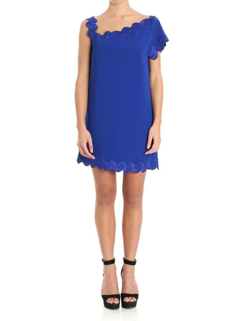 Versace Dress In Electric Blue