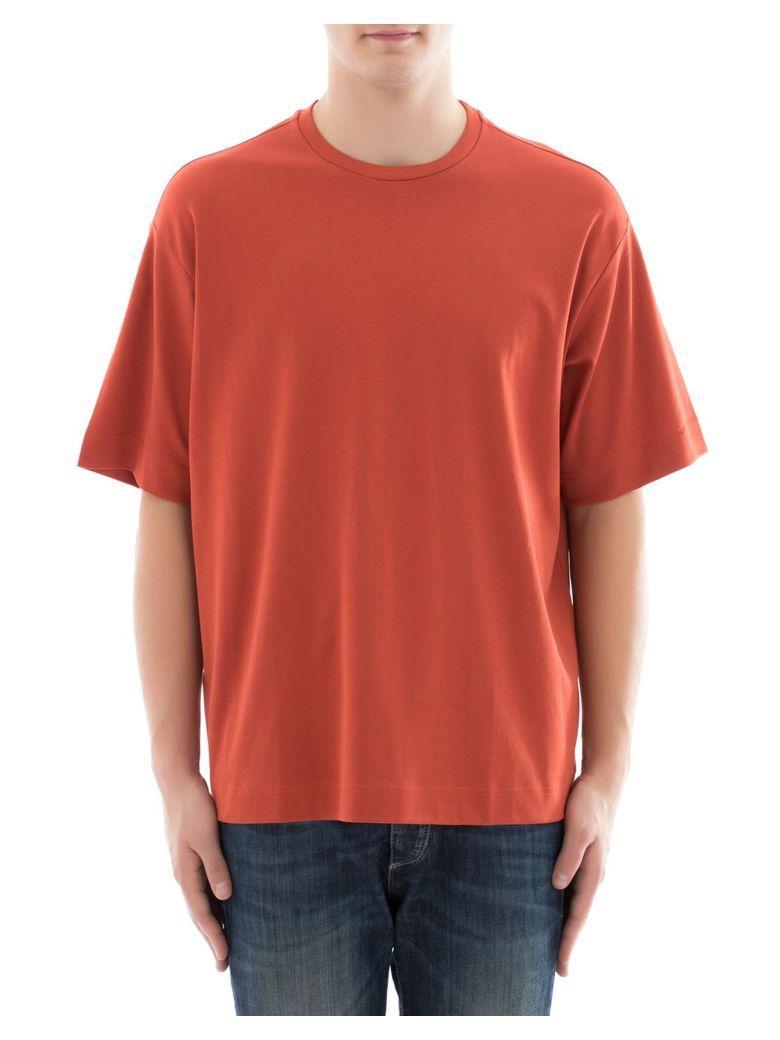 Diesel Black Gold Orange Cotton T-Shirt