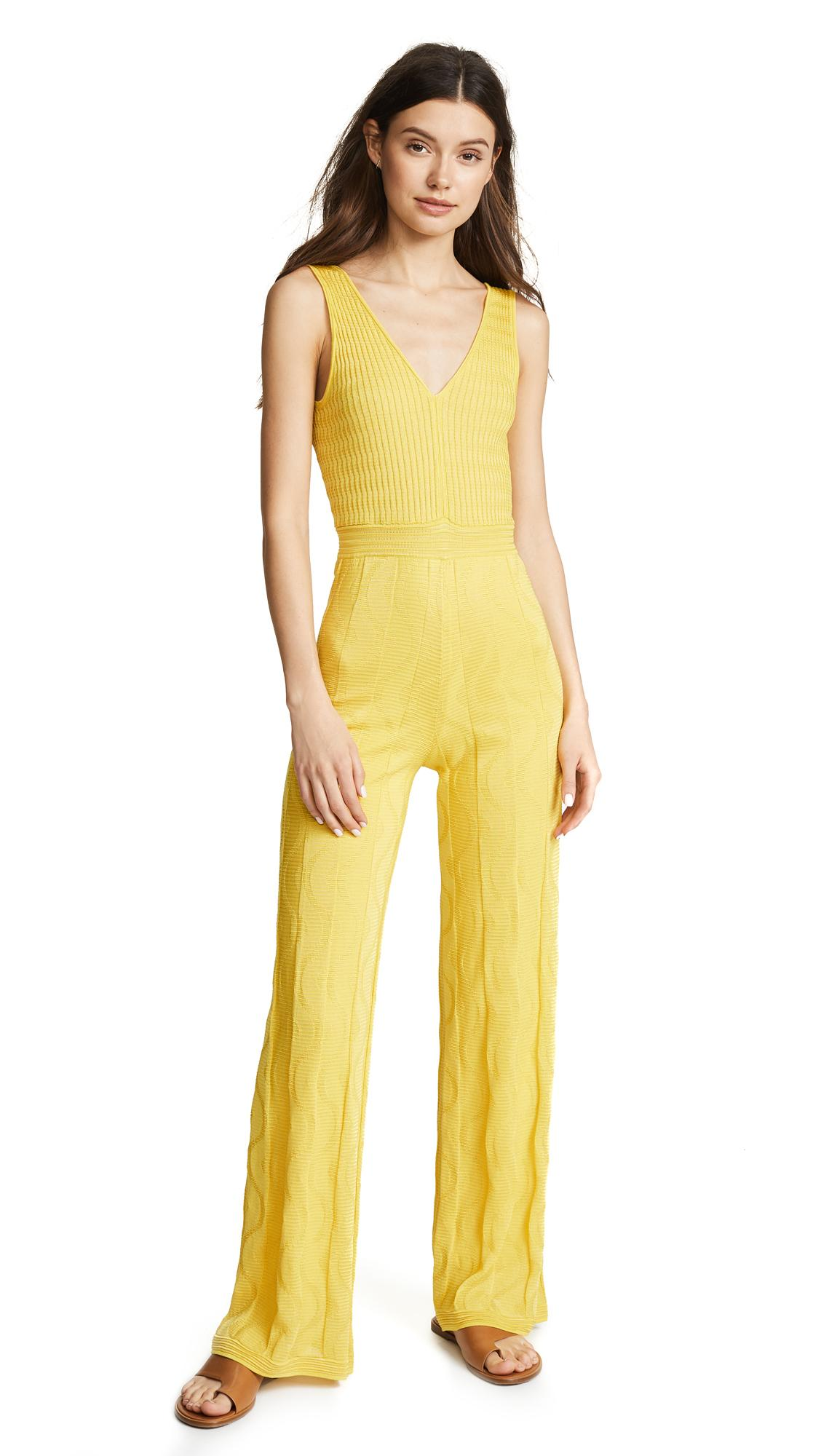 f8f78751dc4a M Missoni V Neck Jumpsuit In Yellow