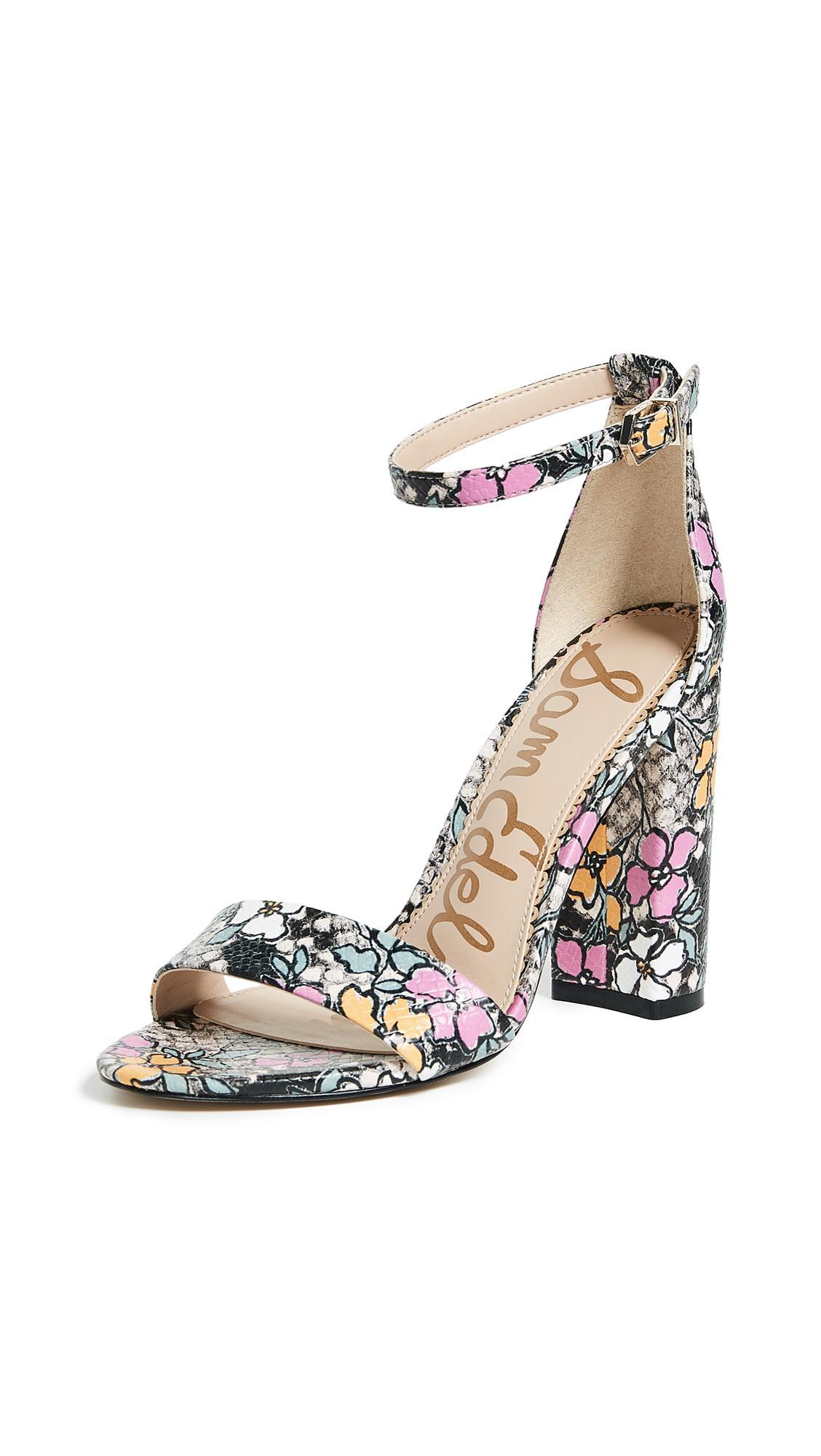 08e387bf6e53b0 Sam Edelman Yaro Ankle Strap Sandal In Bright Multi