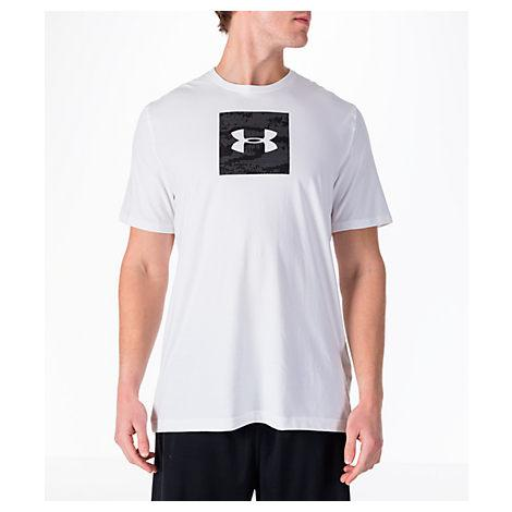 Under Armour Men's Camo Boxed Logo T-Shirt, White