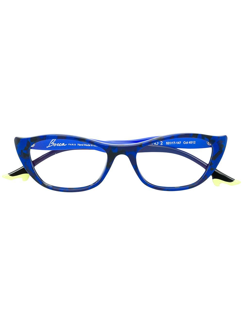 c13206af672 Face À Face Low Cat-Eye Glasses - Blue