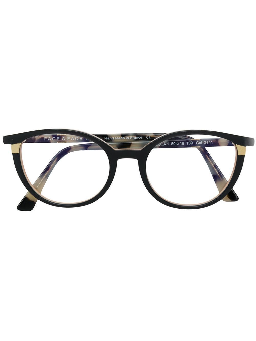 71b774e330070 Face À Face Tortoiseshell Cat-Eye Glasses - Black