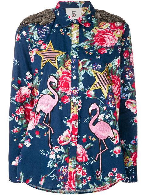 5 Progress Flamingo Shirt In Blue