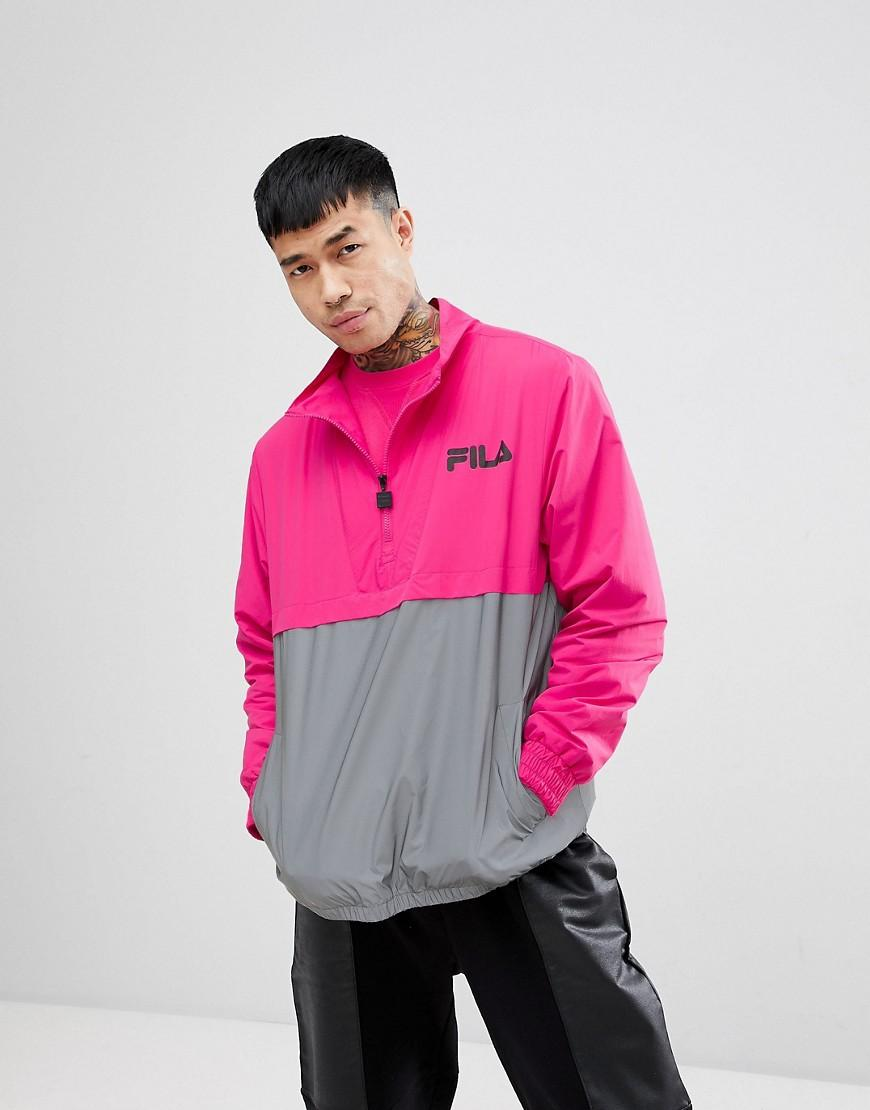 6cf05da3a5e4 Fila Black Line Levi Overhead Jacket With Reflective Panel In Pink - Pink