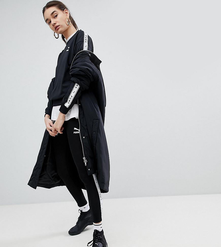 11b9c0d44a5 Puma Exclusive To Asos Plus Taped Side Stripe Track Pants In Black - Black