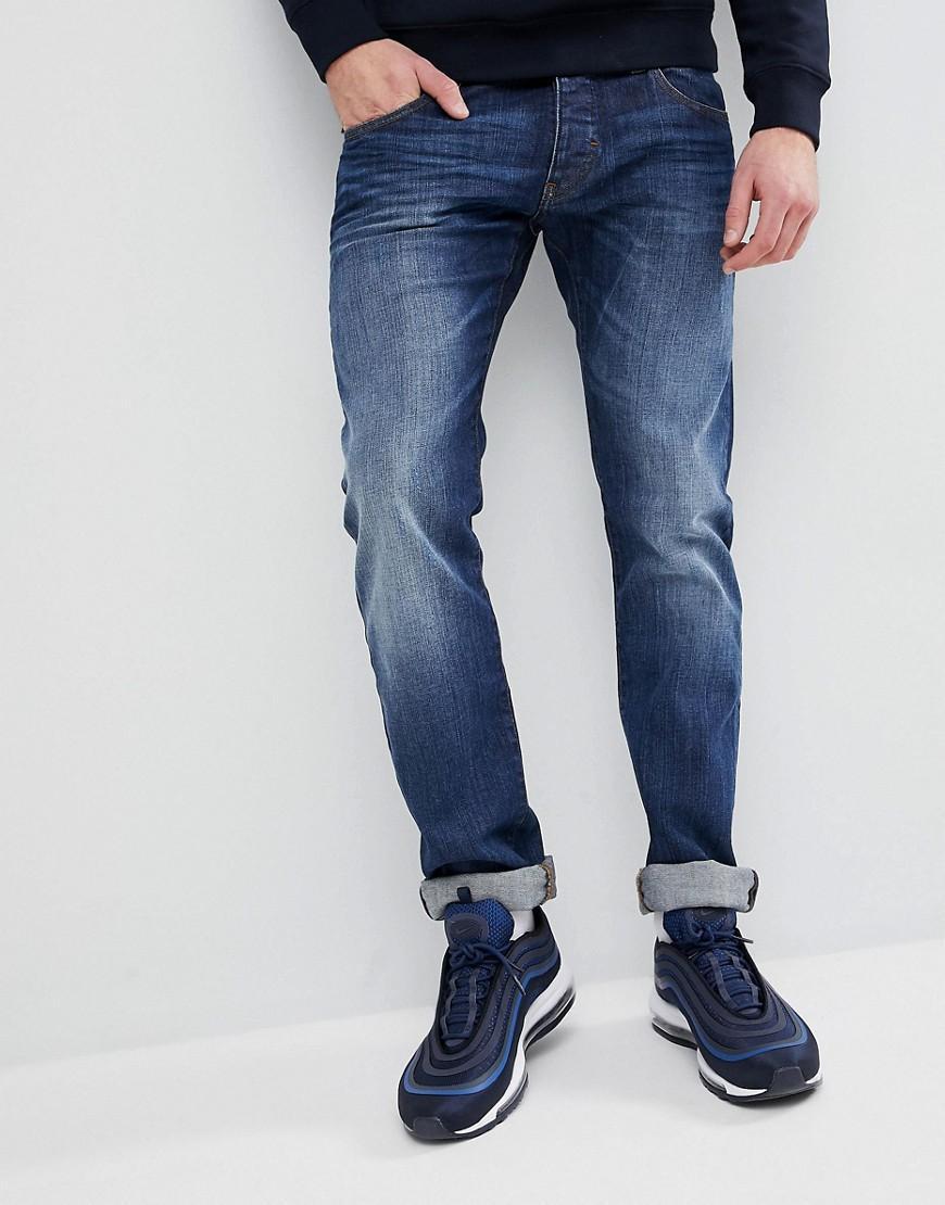 38577217bea Emporio Armani J20 Extra Slim Fit Mid Wash Distressed Jeans - Blue ...