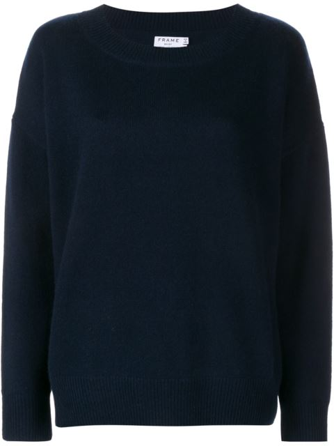 405635608b2ce Frame Navy Blue Cashmere Le Boy Sweater | ModeSens