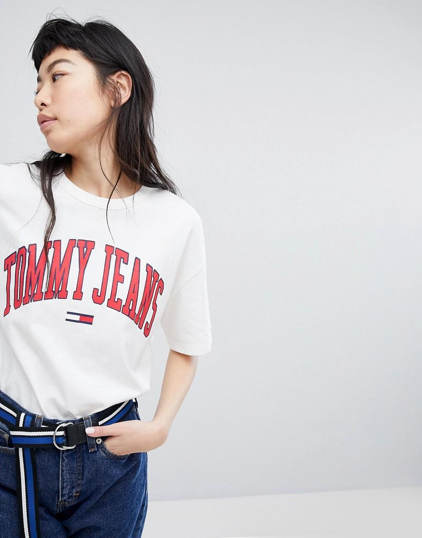 20d33fd2668665 Tommy Jeans Collegiate Logo T-Shirt - White | ModeSens