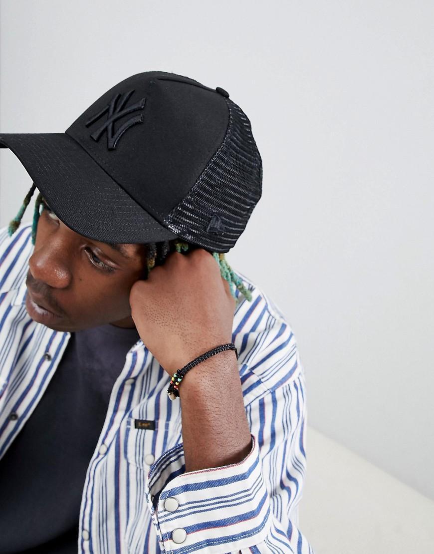 New Era Trucker Cap Ny Yankees - Black