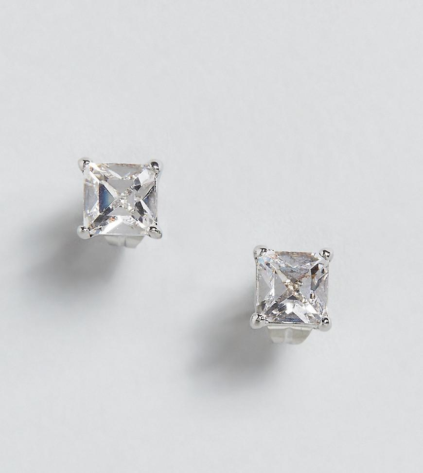 8718b52b7400f Clear Stud Earring With Crystals From Swarovski - Silver