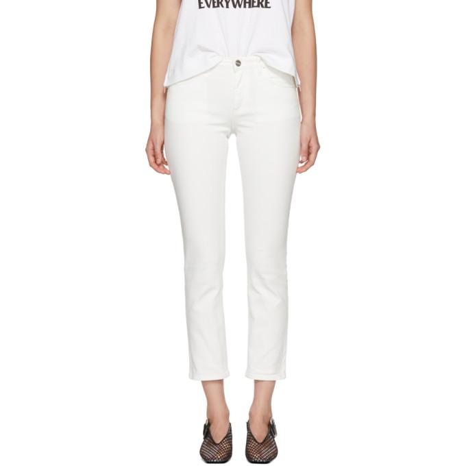 TotÊMe Toteme White Straight Jeans In 100 White