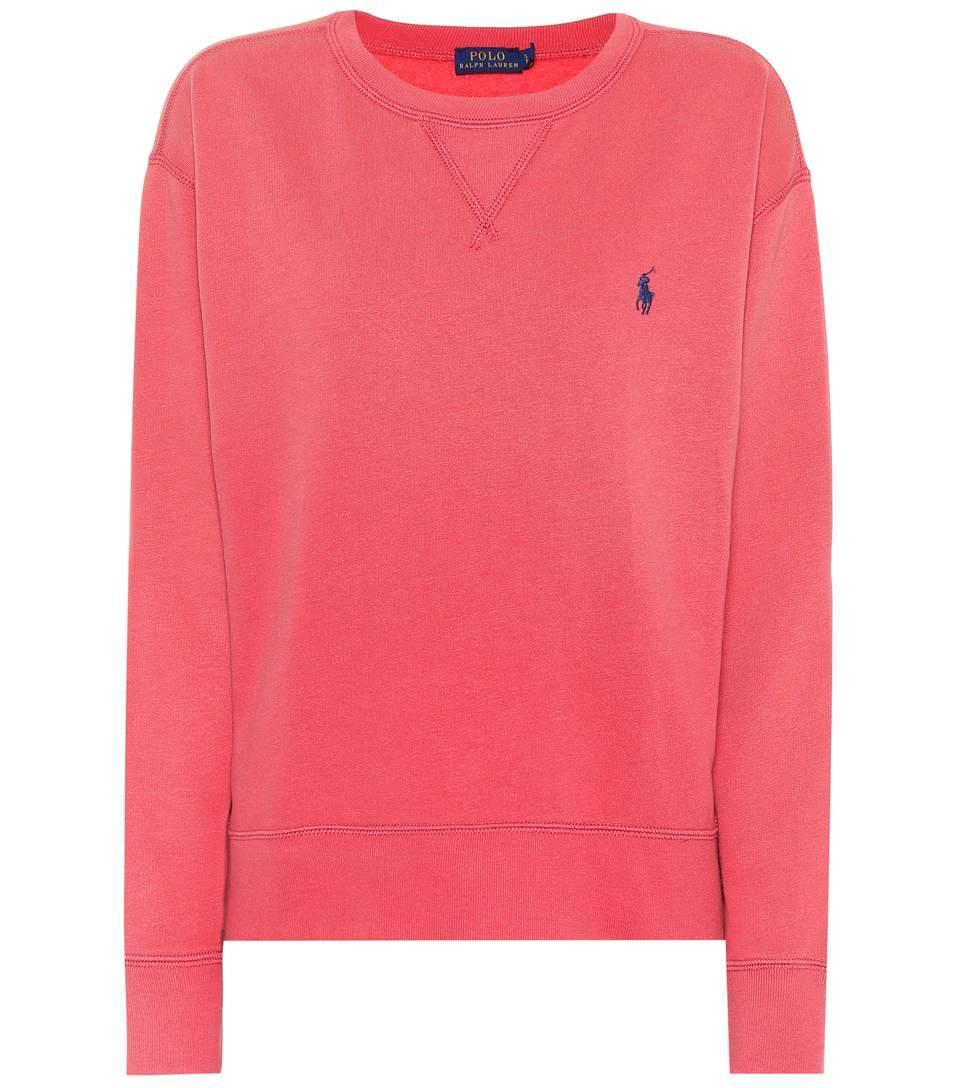 Polo Ralph Lauren Cotton-Blend Sweatshirt In Pink