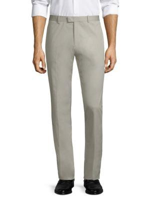 Theory Slim-Fit Marlo Sartorial Stretch Pants In Ash